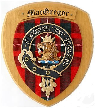 clan crest wall plaque